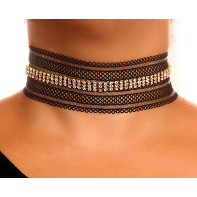 Julia choker with swarovski crystals