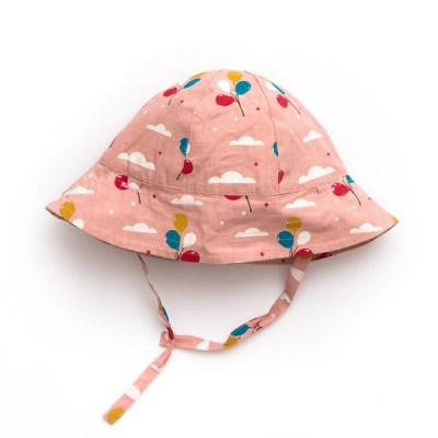 Pale pink balloons reversible summer hat
