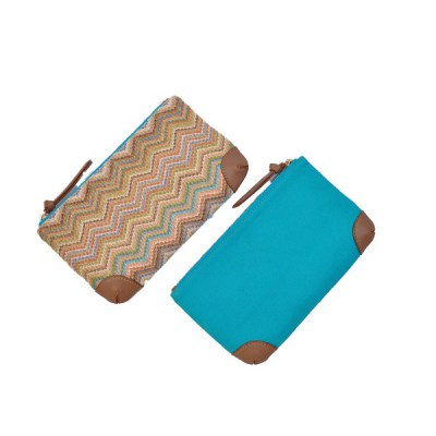 Pouch zigzag Paris front and back view