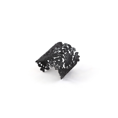 lace tattoo cuff black