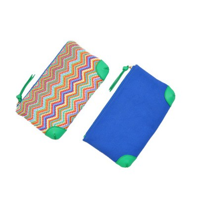 pouch zigzag rainbow front and back view